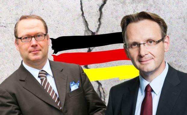 Max Otte, Manager des Max Otte Vermögensbildungsfonds AMI (links), argumentiert gegen Dirk Viebahn, Manager des WGZ Corporate M