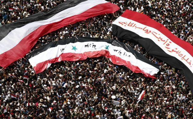 Demonstationen f&uuml;r einen Regimewechsel: Syrer und <br> Jemeniten wollen den &Auml;gyptern folgen, Quelle: Getty Images