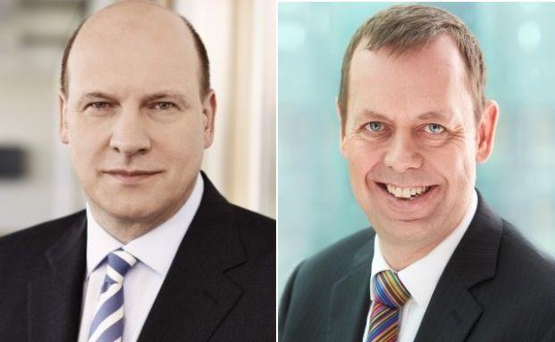 Markus Rieß (links) übernimmt ab Oktober den Posten von Torsten Oletzky als Vorstandschef der Ergo. Quelle: Allianz, Ergo