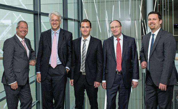 Guido Barthels, Georg Graf von Wallwitz, Jürgen Kultscher, Manfred Schlumberger, Christian Tolle (von links) (Foto: Uwe Nölke)