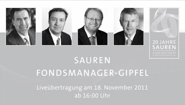 Die Podiumdiskussion des Sauren Fondsmanager-Gipfels k&ouml;nnen <br> Interessierte im Internet verfolgen