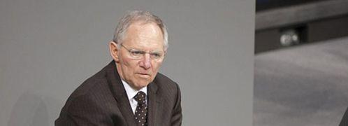 Finanzminister Wolfgang Sch&auml;uble;<br> Brown gibt der Bundesregierung und ihrem harten <br>Sparkurs die Schuld an den Problemen der anderen <br> EU-L&auml;nder; Bildquelle: DBT