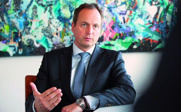 """Matthias Schellenberg, Mitglied des Vorstands von UBS Deutschland: """"Wirkliche Leistungen im Asset Management kristallisieren sich heute stärker heraus"""".Foto: Florian Sonntag"""