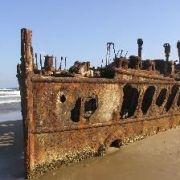 Schiffswrack in Australien