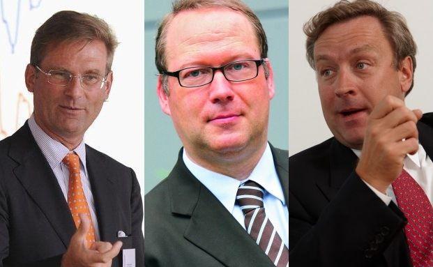 Die Finanzexperten Holger Schmitz (re), Max Otte (Mitte) und Christoph Bruns