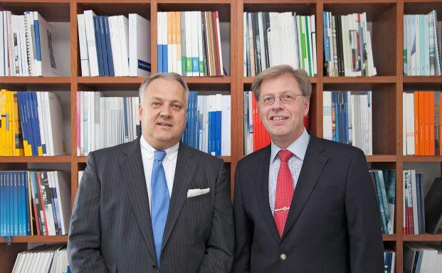 Peter Schneider (rechts) und Winfried Walter