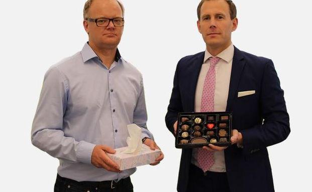 Wollen arme Brewin-Dolphin-Kunden trösten: Nick Hungerford, Chef und Günder von Nutmeg (re.) und Nutmegs Investmentchef Shaun Port. Foto: Screenshot
