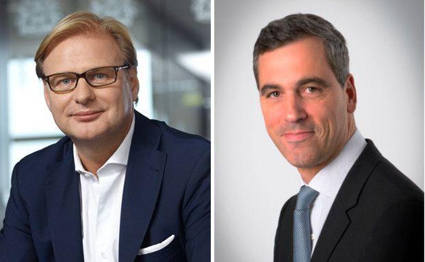Achim Küssner (links), Geschäftsführer Schroder Investment Management GmbH, und Charles Dupont (rechts), Head of Infrastructure Finance bei Schroders