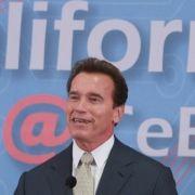 Kaliforniens Gouverneur Arnold Schwarzenegger<br> Quelle: Deutsche Messe Hannover