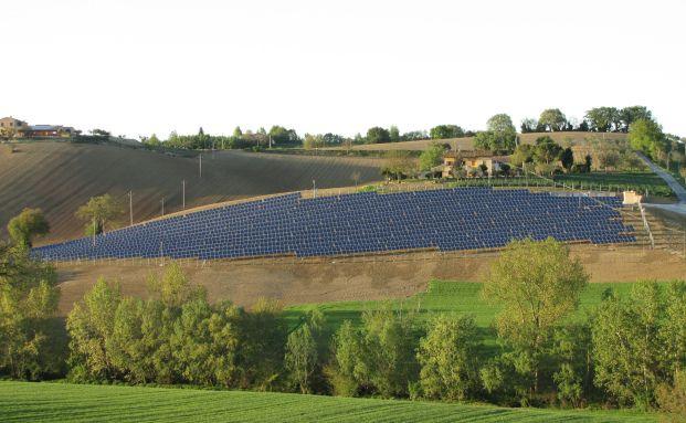 Die Solaranlage Macerata in der Region Marken <br> Foto: White Owl Capital AG