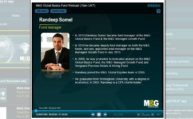 Neu-Fondsmanager Randeep Somel präsentiert sich der Öffentlichkeit (Quelle: Screenshot)