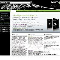 Website des ETF-Anbieters Source