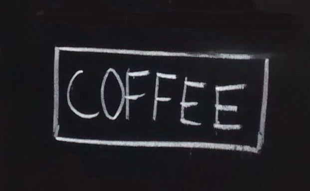 Werbetafel vor einem Café in der Londoner City (Ausschnitt). Foto: Iris Bülow
