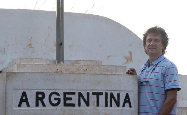 Stefan Böttcher, hier am Dreiländereck Argentinien, Brasilien, Paraguay
