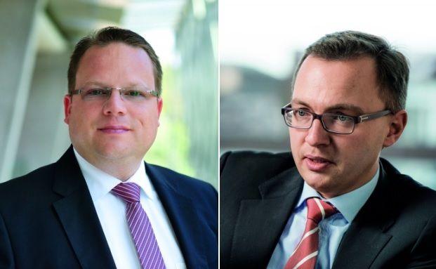 Martin Stenger, Fidelity (links) und Patrick Dahmen (Axa). Fotos: Fidelity, Jochen Rolfes