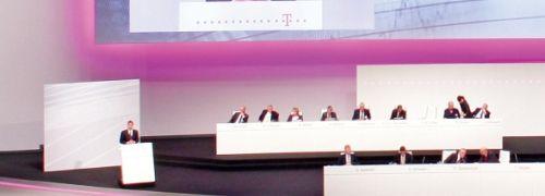 Hauptversammlung der Deutschen Telekom <br> im April 2009 <br> Quelle: Telekom AG