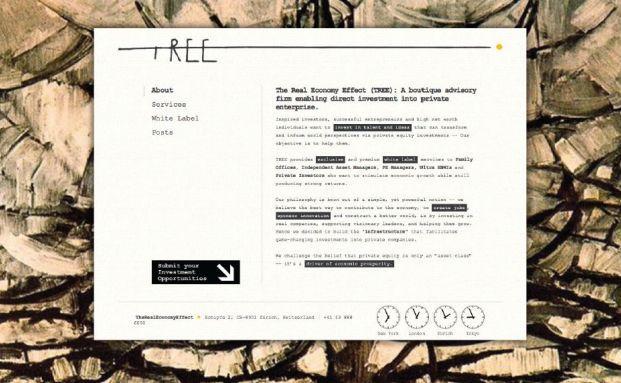 Die Internet Seite von TREE.