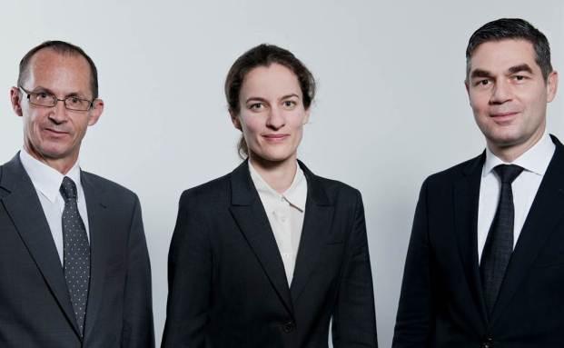 Das Management-Team des neuen Mainfirst Schwellenmarkt-Fonds. Cornel Bruhin, Dorothea Fröhlich und Thomas Rutz.