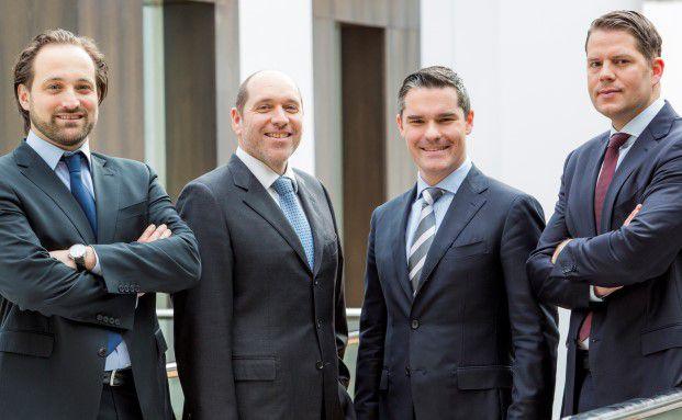 Das Führungsteam von Skalis Funds (von links): Jens Bies, Andreas Grassl, Marc Decker und Ingmar Przewlocka
