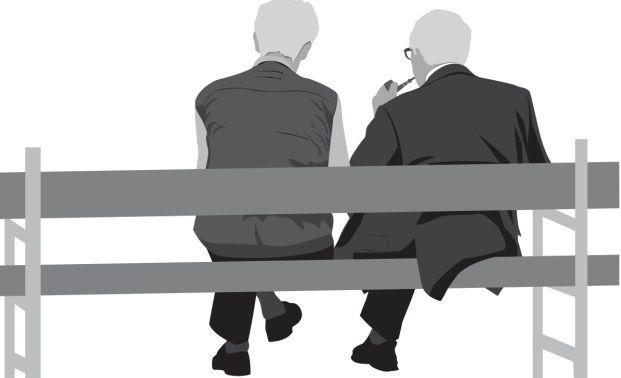 Pensionäre auf Parkbank: Ob die zukünftigen Rentner ihren Ruhestand auch so genießen können hängt vom Sparverhalten ab (Foto: Fotolia/Accent)