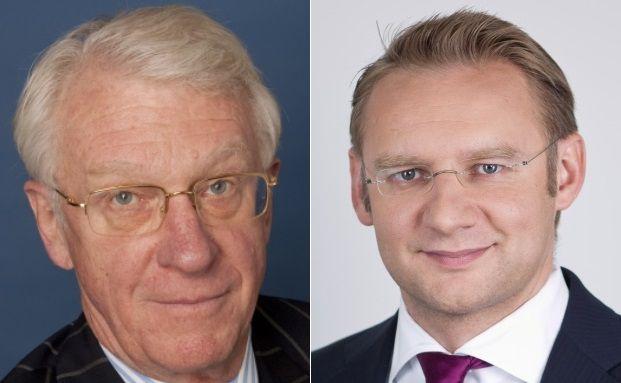 Geben sich trotz Performance-Schwäche gelassen: Fondsmanager John Hathaway (links) und Eckhard Sauren