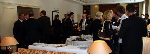 Publikumsandrang beim Wiesbadener Investorentag; <br> Quelle: Telos