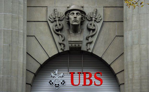 Das Portal der UBS in Zürich. In diesem Jahr wird die schweizer Großbank 150 Jahre alt. Foto: Getty Images