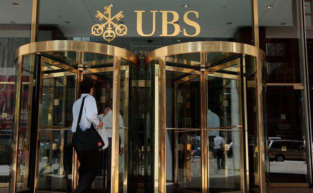 Der Eingang zur UBS in New York. Foto: Getty Images