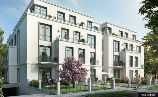 Das Projekt Feldbrunnenstraße im Hamburger Stadtteil Rotherbaum. Gesamtbaukosten: 20 Millionen Euro. Davon sammelte die Plattform Exporo 2,1 Millionen Euro bei ihrer Crowd ein. Foto: © Exporo