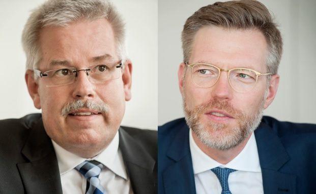 Andreas Hackethal (rechts) und Michael Gillessen sprechen über Maßnahmen, ihre Beratungsempfehlungen nicht mehr zu ignorieren. Foto: Anna Mutter