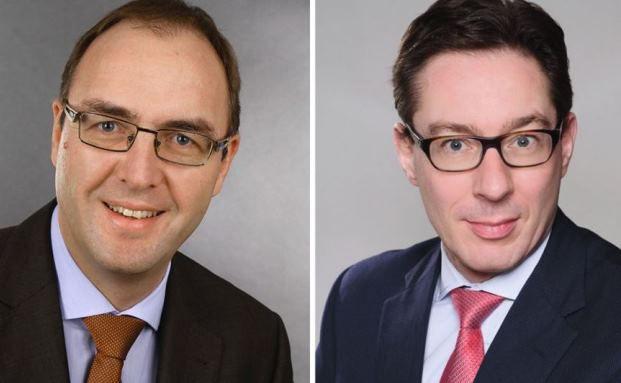 Befördert: Dirk Schuster (links) und Johannes Anschott rücken in den Vorstand der Commerz Real auf. Foto: Commerz Real