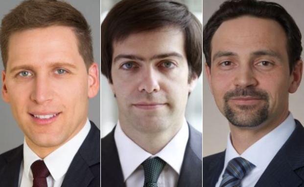 Manager von alternativen L/S-Fonds (von links): Ufuk Boydak (Loys), Emmanuel Hauptmann (Ram) und Max Anderl (UBS)