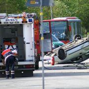 Ein Verkehrsunfall; Die Kfz-<br>Versicherungen genie&szlig;en das gr&ouml;&szlig;te <br> Kundenvertrauen; Quelle: Pixelio