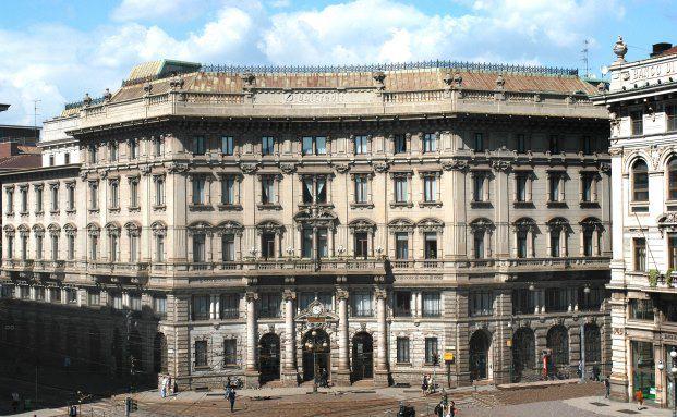 UniCredit Zentrale in Mailand.