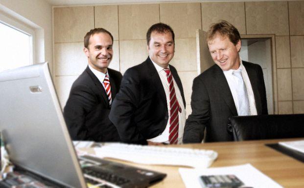 Erfolg mit Zukunftsthemen: MB-Fund-Advisory-Geschäftsführer Thilo Müller, Markus Stillger und Armin Stahl (von links)