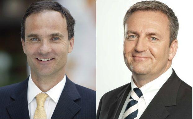 Bertram Valentin (links) geht, daf&uuml;r &uuml;bernimmt Sven Enger<br>den Chefposten bei Standard Life