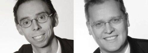 Michael Schnoor (li.) und Frank Borrmann<br>von VMP Advisory managen den VMP Euroblue<br>Systematic