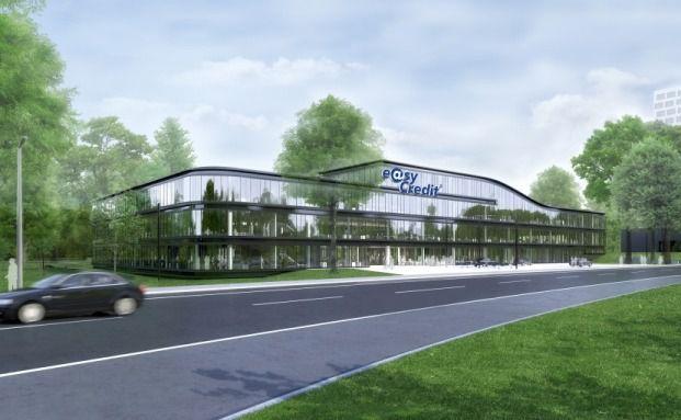 Animation der geplanten Teambank Zentrale in Nürnberg.