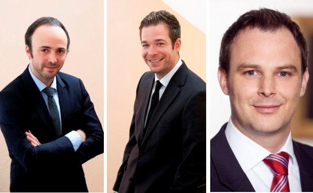 Daniel Danon und Tobias Knecht von Assenagon; Christoph Sporer von Berenberg (v. li.): Das sind die Manager der zwei von fünf besten Volatilitätsfonds. Welche Produkte das sind und welche Fonds es noch in die Top-5 schafften, erfahren Sie in unserer Chart-Strecke