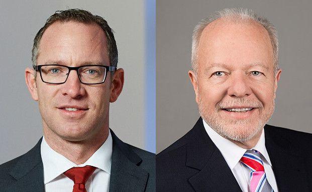Jan-Patrick Weuthen, Senior Portfoliomanager, B&K Ver-mögen GmbH, Köln, (rechts) und Rolf Ehlhardt, Vermögensverwalter, I.C.M. Independent Ca-pital Management Vermögensberatung Mannheim GmbH (links)
