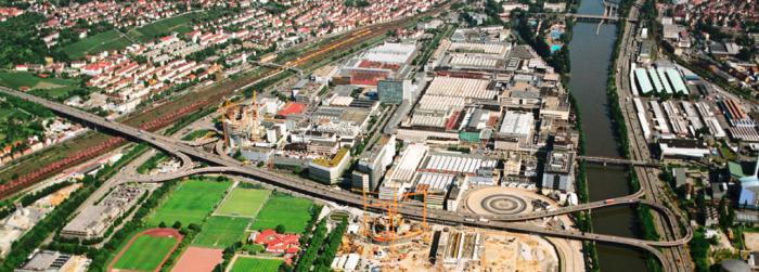 Die Daimler-Zentrale in Untertürkheim
