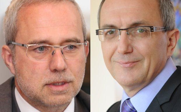 Uwe Zimmer, Vorstand der Vermögensverwaltung Meridio, und Karl-Heinz Geiger, Geschäftsführender Gesellschafter der SVA Vermögensverwaltung (von links)
