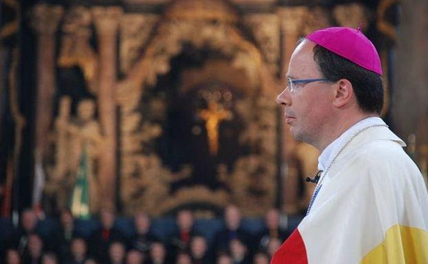 Bischof Stephan Ackermann bei seiner Amtseinf&uuml;hrung 2009. <br> Quelle: Bistum Trier