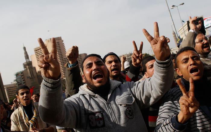 Unruhen in der &auml;gyptischen Hauptstadt Kairo <br>im Februar dieses Jahres. &Auml;gypten ist <br> eines der N-11-L&auml;nder. Quelle: Getty Images