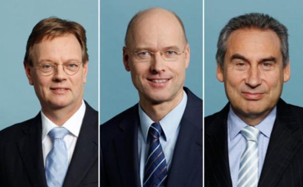 v.li: Wilfried Johann&szlig;en, Michael Hessling, Markus Faulhaber,<br>Quelle: Allianz