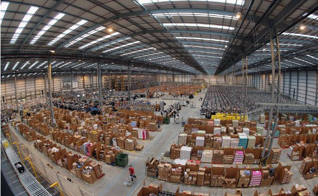 Warenlager von Amazon in Peterborough, England (Foto: Getty Images)