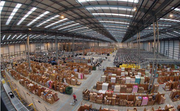 Warenlager von Amazon in Peterborough, England (Foto: Getty Images)