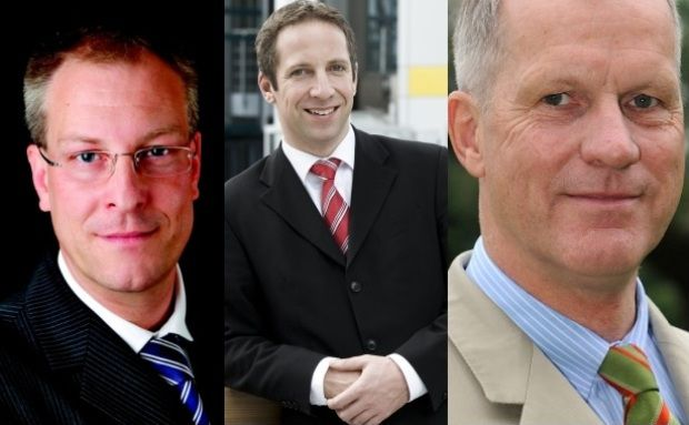 John-Enrik Schröder, Norbert Porazik, Bernward Maasjost (von links)