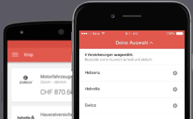 Screenshot der Knip-App