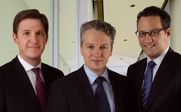 Das Aragon-F&uuml;hrungsteam (von links): Wulf Sch&uuml;tz, COO, <br>Ralph Konrad, CFO und Sebastian Grabmaier, CEO